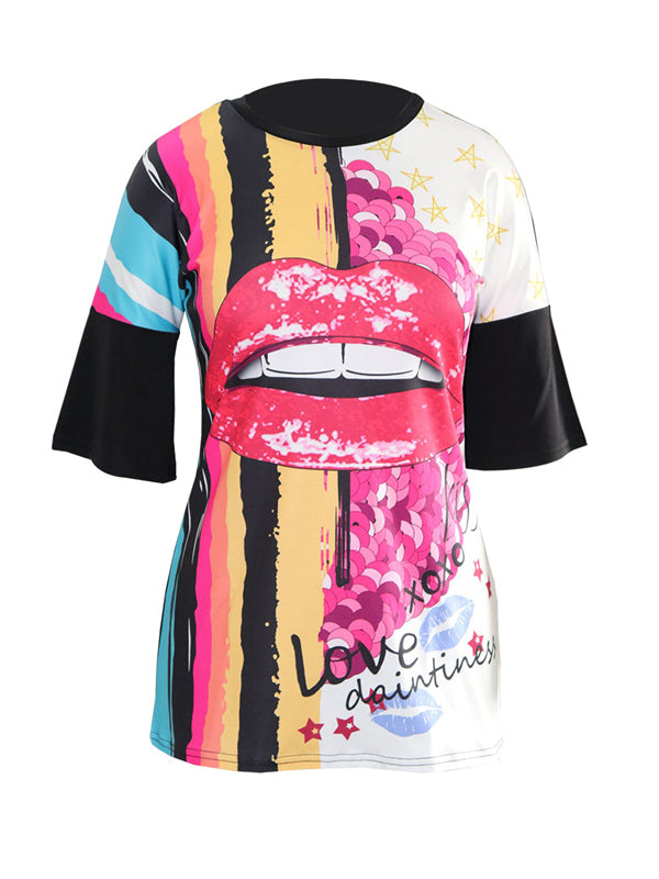Casual Fashion Print T-shirt Mini Dress