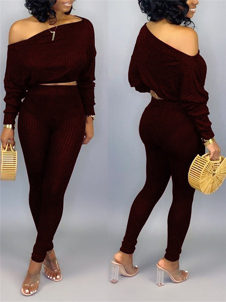 Off The Shoulder Bandage Solid Color Jumpsuit