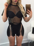 Fashion Bandage Two Pieces Suit