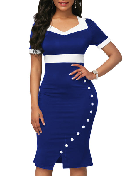 Long Sleeve High Waist Printed Midi Dress