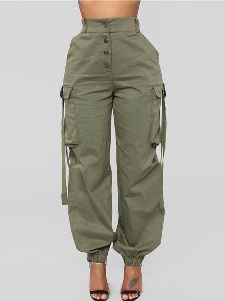Fashion Simple Casual Pocket Long Pants
