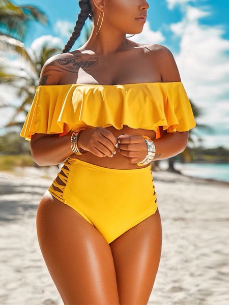 Sexy Bandage Two Pieces Swimwear