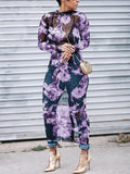 See Through Floral Maxi Dress