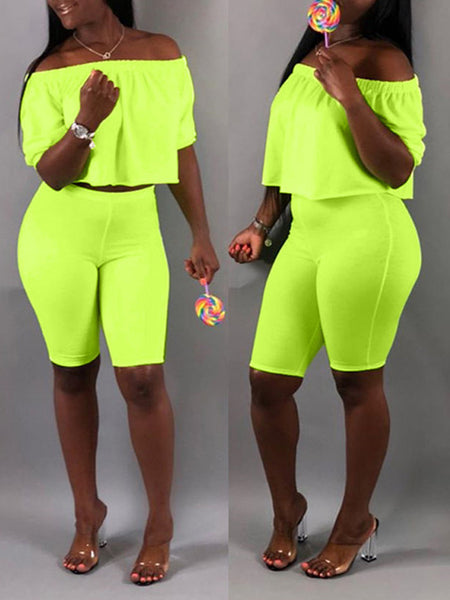 Plus Size Cartoon Embroidered Pocket Two Piece Sets