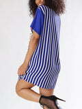 Print Striped Casual Mini Dress