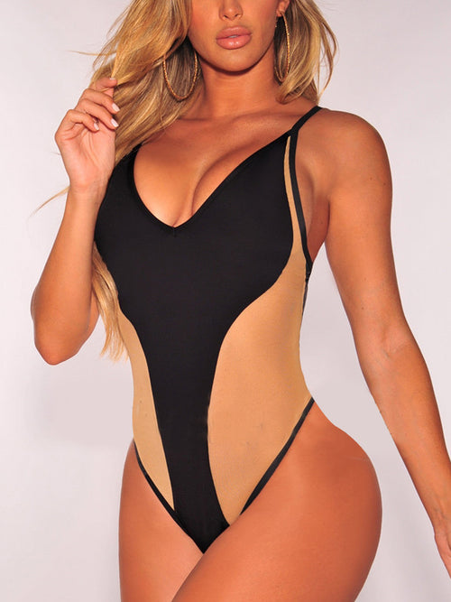 Sexy Patchwork One Piece Swimwear