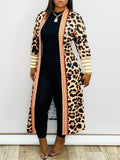 Leopard Print Thicken Long Sleeve Cardigan