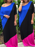 Casual Patchwork Fashion Maxi Dress