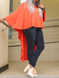 Solid Long Sleeve Asymmetric Top