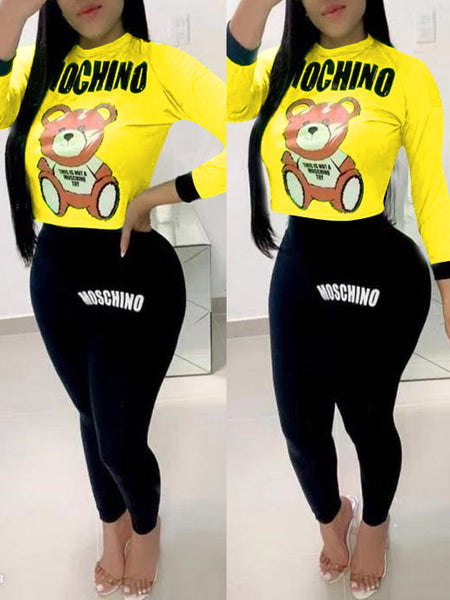 Offset Printing Long Sleeve Top & Pants