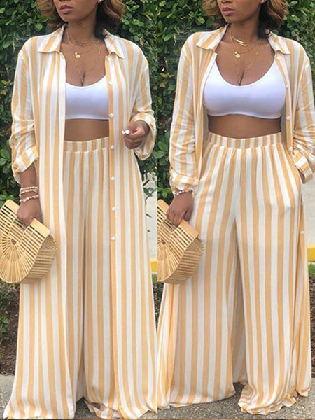 Solid Off The Shoulder Long Sleeves Lace-up Two Pieces Pants Suit