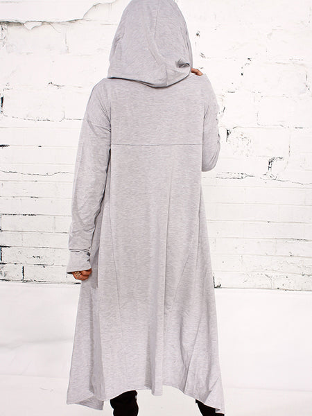 [Special Sale]Solid Long Sleeves Irregular Hoodies With Hat