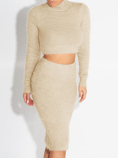 Sweater Two Pieces Midi Dress