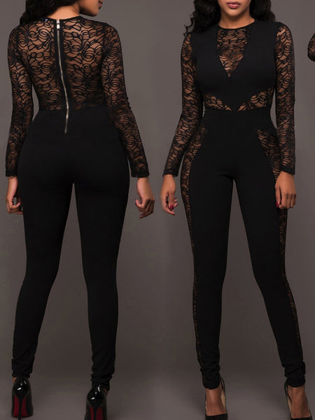 [Special Sale]Lace Long Sleeves Jumpsuit
