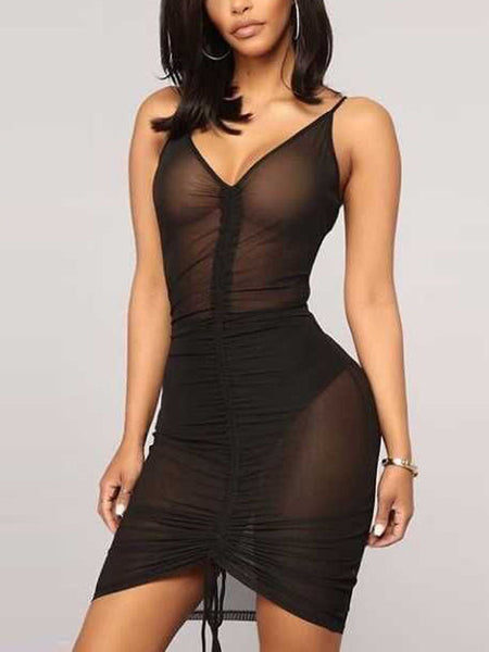 Sexy See-through Mini Dress Without Briefs