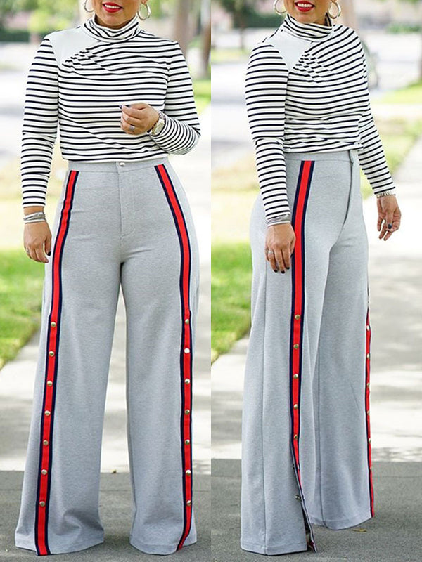 Fashion Casual Wide Leg Pants