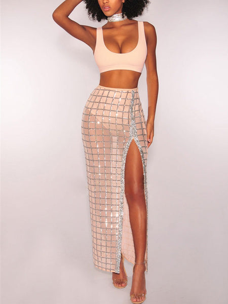 Sexy See-through Split Two Pieces Dress
