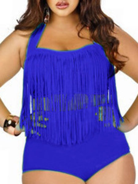 Flounced Off The Shoulder Two Pieces Swimwear