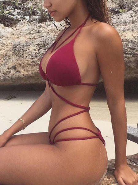 Sexy Bandage Two Pieces Bikini
