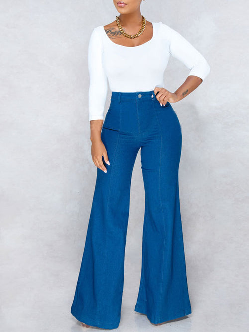Fashion Denim Flare Pants Jeans
