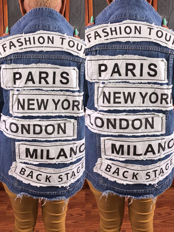 Fashion Appliques Denim Jacket