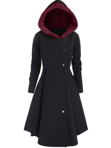 Thicken Slim Long Sleeve Hooded Dressing Coat Plus Size