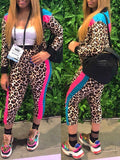 Fashion Cheetch Patchwork Two-Piece Outfits
