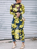 [Special Sale]See Through Floral Maxi Dress