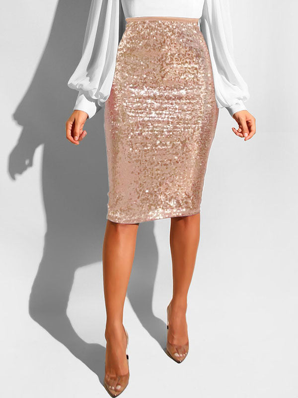 Sexy Sequin Bodycon Midi Skrit