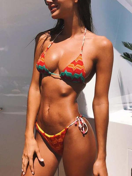 Sexy Print Two Pieces Bikini