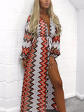 Print Long sleeves Swim Cover-up