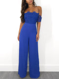 Solid Off The Shoulder Jumpsuit