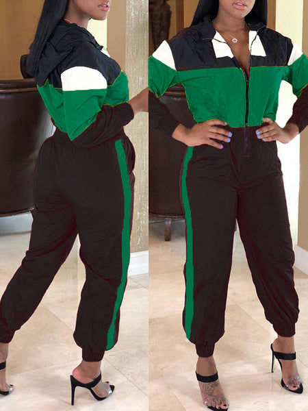 Rib Solid Color Long Sleeve Three Piece Sets