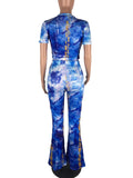 Fashion Print Two Pieces Suit