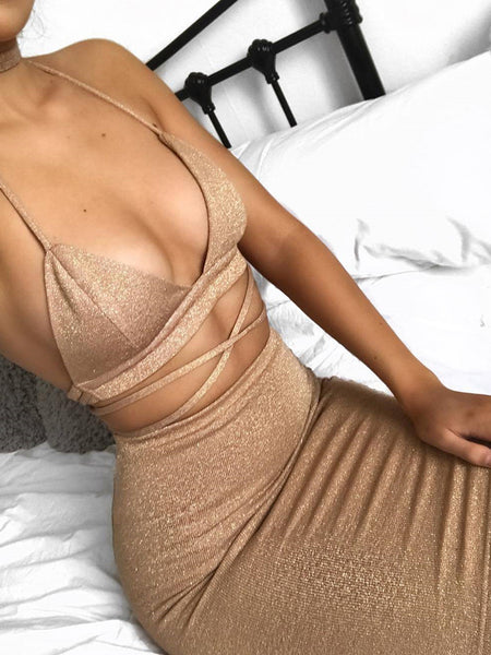 [Special Sale]Sexy Two Pieces Night Club Dress