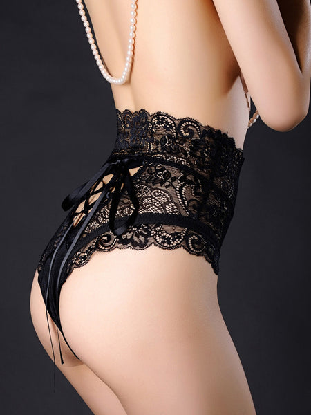 Sexy Hollow out Lace-up Briefs