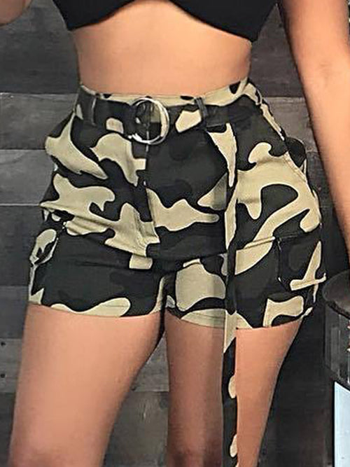 Fashion Camouflage Casual Shorts (Without Belt)
