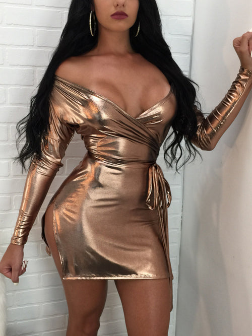 Sexy Laser Reflective Night Club Dress
