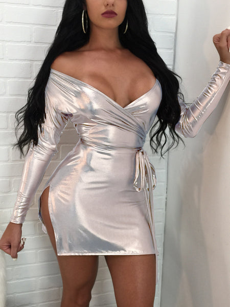 [Special Sale]Sexy Laser Reflective Night Club Dress