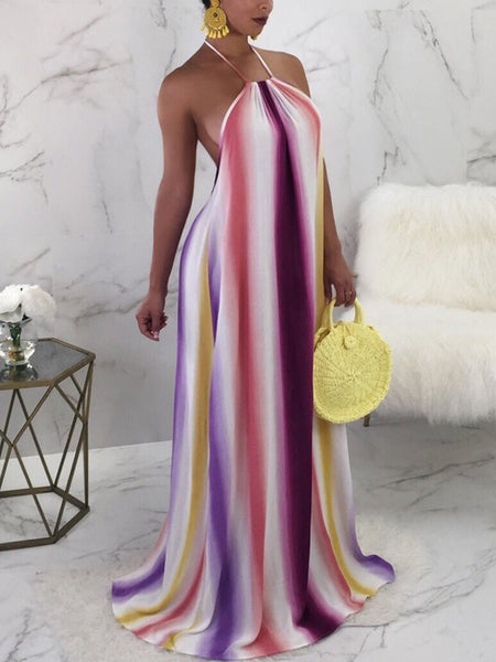 Solid Party Dress Maxi Dress