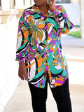 Casual Long Sleeve Fashion Print Shirt