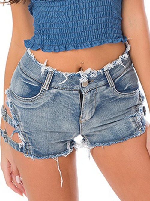 Sexy Split Denim Shorts