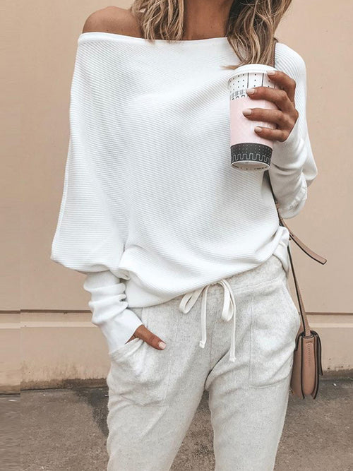Solid Fashion Simple Casual Sweater