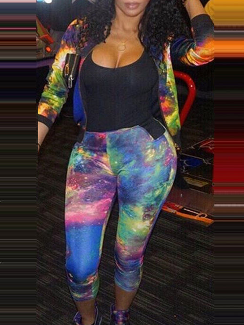 Fashion Casual Patchwork Sweat Suit