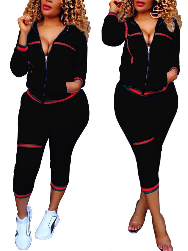 Solid Sport Style Casual Two Pieces Suit