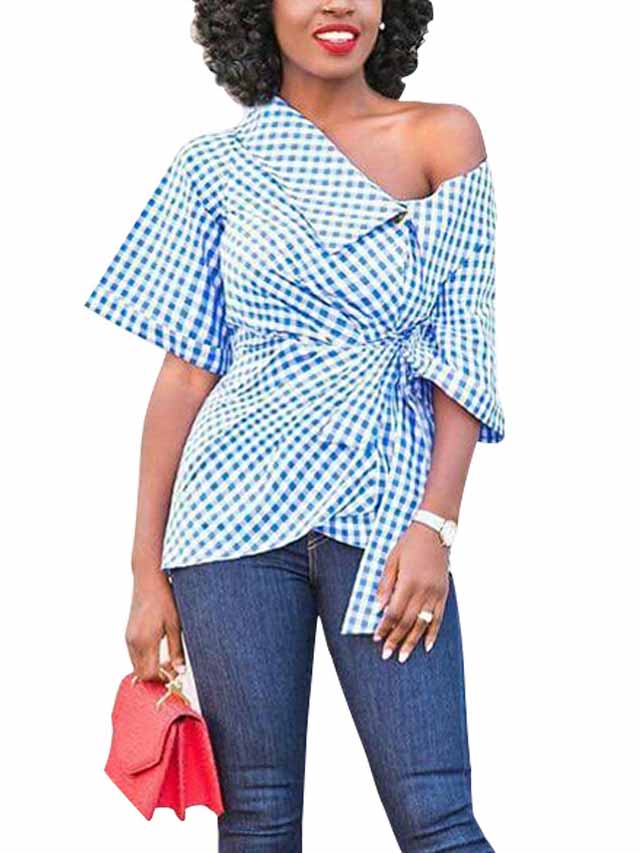 Fashion Plaid Woman's Shirt