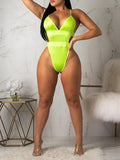 Plus Size Net Yarn Two Piece Swimwear