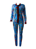 Digital Print Sport Two Pieces Pants Suit(Plus size)