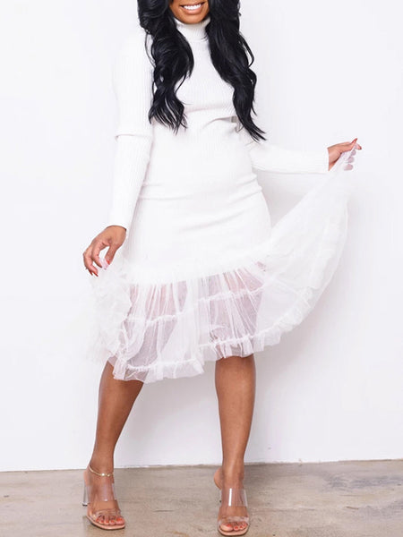 Off The Shoulder Ruffle Lantern Sleeve Two Piece Sets