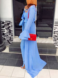 Fashion Simple Casual Solid Jumpsuit & Coat